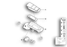 Goto diagram: BMW Classic Motorbike Model F 800 GT (0B03, 0B13)( USA ), Category 46.71 Rear footrests :: Diagram: 46_1054