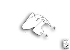 Goto diagram: BMW Classic Motorbike Model F 800 R (0215)( BRA ), Category 46.61 Front-wheel cover :: Diagram: 46_1063