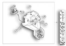 Goto diagram: BMW Classic Motorbike Model R 1200 R 06 (0378,0398)( USA ), Category 46.62 Number-plate holder / seat lock :: Diagram: 46_1071