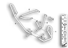 Goto diagram: BMW Classic Motorrad Modell R 900 RT 05 SF (0367,0387)( ECE ), Category 46.70 Engine roll bar, authority vehicles :: Diagram: 46_1075