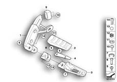 Goto diagram: BMW Classic Motorbike Model R 1200 R 06 (0378,0398)( USA ), Category 46.71 Rear footrests :: Diagram: 46_1087