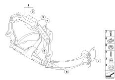 Goto diagram: BMW Classic Motorrad Modell F 700 GS 17 (0B26)( BRA ), Category 46.63 Front panel carrier :: Diagram: 46_1115