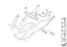 Goto diagram: BMW Classic Motorbike Model R 1200 GS Adve. 10 (0470,0480)( ECE ), Category 46.61 Wheel cover, front :: Diagram: 46_1136
