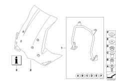 Goto diagram: BMW Classic Motorrad Modell F 800 GS 17 (0B27)( BRA ), Category 46.63 Touring windshield with mounting :: Diagram: 46_1152