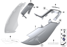 Goto diagram: BMW Classic Motorbike Model R 1200 RT 10 (0430,0440)( USA ), Category 46.63 Fairing side section, front :: Diagram: 46_1258