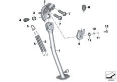 Goto diagram: BMW Classic Motorrad Modell K 1600 GT 17 (0F01, 0F11)( ECE ), Category 46.53 SIDE STAND :: Diagram: 46_1265