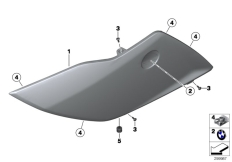 Goto diagram: BMW Classic Motorbike Model K 1600 GTL Excl. (0603, 0613)( USA ), Category 46.63 Fairing side section, front :: Diagram: 46_1321