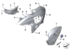 Goto diagram: BMW Classic Motorrad Modell G 650 GS Sertão (0136, 0146)( ECE ), Category 46.63 Fairing side section :: Diagram: 46_1346