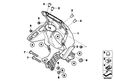 Goto diagram: BMW Classic Motorrad Modell G 650 GS Sertão (0136, 0146)( ECE ), Category 46.63 Clothes holder, front :: Diagram: 46_1348