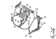 Goto diagram: BMW Classic Motorbike Model C 600 Sport (0131, 0132)( ECE ), Category 46.63 Clothes holder, front :: Diagram: 46_1372