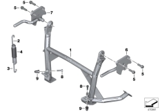 Goto diagram: BMW Classic Motorrad Modell C 650 Sport 16 (0C04, 0C14)( USA ), Category 46.52 Centre stand :: Diagram: 46_1373