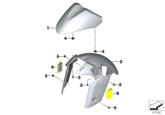 Goto diagram: BMW Classic Motorrad Modell C 650 GT 16 (0C05, 0C15)( ECE ), Category 46.61 Front-wheel cover :: Diagram: 46_1378