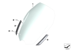 Goto diagram: BMW Classic Motorrad Modell C 650 Sport 16 (0C04, 0C14)( USA ), Category 46.63 Windshield / mounting :: Diagram: 46_1384