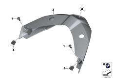 Goto diagram: BMW Classic Motorrad Modell C 650 Sport 16 (0C04, 0C14)( USA ), Category 46.63 Rear trim panel, middle :: Diagram: 46_1390
