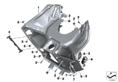 Goto diagram: BMW Classic Motorrad Modell C 650 Sport 16 (0C04, 0C14)( USA ), Category 46.63 Legshield :: Diagram: 46_1399