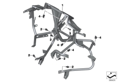 Goto diagram: BMW Classic Motorrad Modell C 650 GT (0133, 0134)( ECE ), Category 46.63 Clothes holder, front :: Diagram: 46_1408