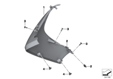Goto diagram: BMW Classic Motorrad Modell C 650 GT 16 (0C05, 0C15)( ECE ), Category 46.63 Fairing side panel, front :: Diagram: 46_1416