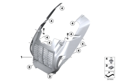Goto diagram: BMW Classic Motorrad Modell C 650 GT 16 (0C05, 0C15)( ECE ), Category 46.63 Radiator trim, plastic :: Diagram: 46_1427