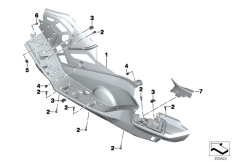 Goto diagram: BMW Classic Motorrad Modell C 650 GT 16 (0C05, 0C15)( ECE ), Category 46.63 Footboards :: Diagram: 46_1433