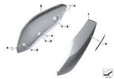 Goto diagram: BMW Classic Motorrad Modell C 650 GT 16 (0C05, 0C15)( ECE ), Category 46.63 TAIL TRIM :: Diagram: 46_1437