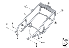 Goto diagram: BMW Classic Motorrad Modell C 650 GT 16 (0C05, 0C15)( ECE ), Category 46.51 Rear frame :: Diagram: 46_1446