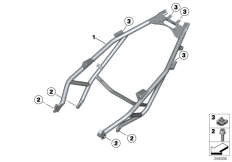 Goto diagram: BMW Classic Motorrad Modell C 650 Sport 16 (0C04, 0C14)( USA ), Category 46.51 Rear frame :: Diagram: 46_1447