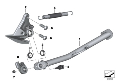 Goto diagram: BMW Classic Motorrad Modell F 700 GS 17 (0B26)( BRA ), Category 46.53 SIDE STAND :: Diagram: 46_1451