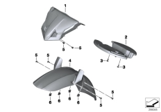 Goto diagram: BMW Classic Motorrad Modell F 700 GS (0B21)( BRA ), Category 46.61 Wheel cover, front :: Diagram: 46_1453