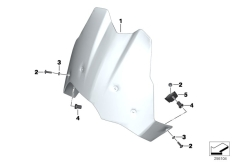 Goto diagram: BMW Classic Motorrad Modell F 700 GS 17 (0B36)( THA ), Category 46.63 Windshield / mounting :: Diagram: 46_1457