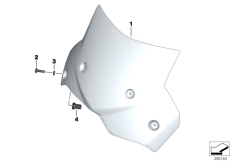 Goto diagram: BMW Classic Motorrad Modell F 700 GS 17 (0B26)( BRA ), Category 46.63 Windscreen :: Diagram: 46_1458