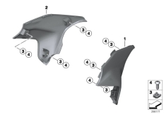 Goto diagram: BMW Classic Motorrad Modell F 700 GS 17 (0B26)( BRA ), Category 46.63 Knee pad :: Diagram: 46_1460