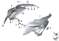 Goto diagram: BMW Classic Motorrad Modell F 700 GS 17 (0B06, 0B16)( USA ), Category 46.63 Fairing side section :: Diagram: 46_1461