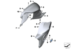 Goto diagram: BMW Classic Motorbike Model F 800 R (0215)( BRA ), Category 46.63 Fairing side section / attachment parts :: Diagram: 46_1466