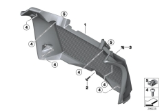 Goto diagram: BMW Classic Motorrad Modell F 800 GS 17 (0B27)( BRA ), Category 46.63 Radiator trim :: Diagram: 46_1467