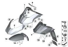 Goto diagram: BMW Classic Motorrad Modell G 650 GS Sertão (0136, 0146)( ECE ), Category 46.61 Wheel cover, front :: Diagram: 46_1470