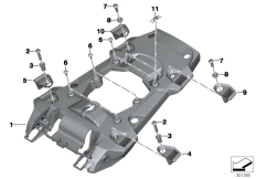 Goto diagram: BMW Classic Motorrad Modell R 1200 GS 17 (0A51, 0A61)( USA ), Category 46.62 Rear carrier part :: Diagram: 46_1474