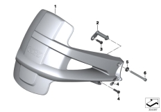 Goto diagram: BMW Classic Motorbike Model R 1200 GS Adve. 10 (0470,0480)( ECE ), Category 46.62 Mudguard rear :: Diagram: 46_1483