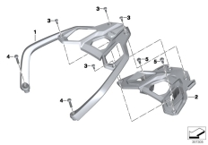 Goto diagram: BMW Classic Motorrad Modell R 1200 GS 17 (0A51, 0A61)( USA ), Category 46.54 HANDLE REAR :: Diagram: 46_1488