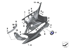 Goto diagram: BMW Classic Motorbike Model F 800 GT (0B03, 0B13)( USA ), Category 46.63 Fairing lower section :: Diagram: 46_1511