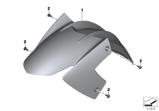 Goto diagram: BMW Classic Motorbike Model F 800 GT (0B03, 0B13)( USA ), Category 46.61 Front-wheel cover :: Diagram: 46_1516