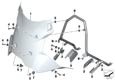 Goto diagram: BMW Classic Motorrad Modell F 800 GS Adve. (0B05, 0B15)( ECE ), Category 46.63 Windshield / mounting :: Diagram: 46_1542
