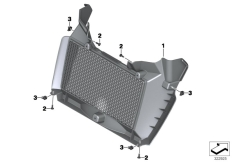 Goto diagram: BMW Classic Motorrad Modell F 800 GS Adve. (0B05, 0B15)( ECE ), Category 46.63 Radiator trim :: Diagram: 46_1543