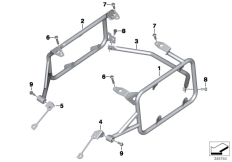 Goto diagram: BMW Classic Motorbike Model R 1200 GS Adve. (0A42)( BRA ), Category 46.54 CASE HOLDER/MOUNTING PARTS :: Diagram: 46_1583