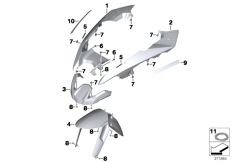 Goto diagram: BMW Classic Motorbike Model R 1200 GS Adve. (0A42)( BRA ), Category 46.61 Front-wheel cover :: Diagram: 46_1584
