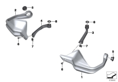 Goto diagram: BMW Classic Motorrad Modell F 800 GS Adve. (0B05, 0B15)( ECE ), Category 46.63 HAND PROTECTOR :: Diagram: 46_1588