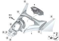 Goto diagram: BMW Classic Motorrad Modell C 650 GT 16 (0C05, 0C15)( ECE ), Category 46.63 Covering fuel tank :: Diagram: 46_1592