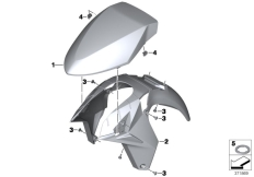 Goto diagram: BMW Classic Motorrad Modell R 1200 RT (0A03, 0A13)( USA ), Category 46.61 Front-wheel cover :: Diagram: 46_1601