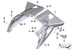 Goto diagram: BMW Classic Motorrad Modell R 1200 RT (0A03, 0A13)( USA ), Category 46.63 Rear tail part :: Diagram: 46_1614