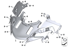 Goto diagram: BMW Classic Motorrad Modell R 1200 RT (0A03, 0A13)( USA ), Category 46.63 Upper trim section :: Diagram: 46_1630