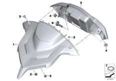 Goto diagram: BMW Classic Motorrad Modell R 1200 RT (0A03, 0A13)( USA ), Category 46.63 Instrument cover, navigation :: Diagram: 46_1635